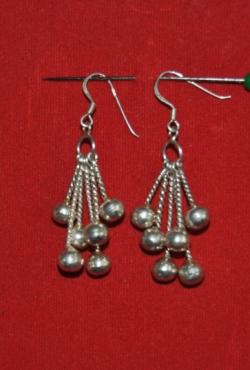 Gražūs, puošnūs nauji sidabro auskarai