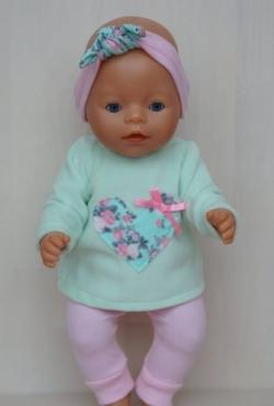 """Drabužėliai Baby Born ar kitai lėlytei iki 43 cm """"Širdelė"""""""