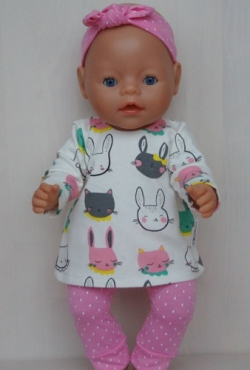 """Drabužėliai Baby Born ar kitai lėlytei iki 43 cm """"Zuikučiai"""""""