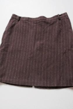 Demisezoninis rudas sijonas