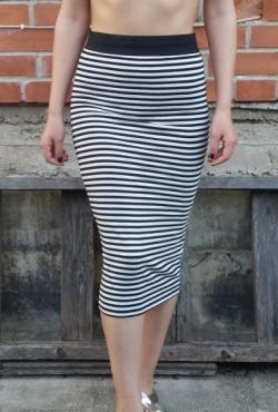 Ilgas dryžuotas sijonas