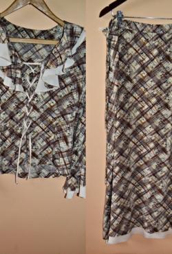 Moteriškas margas kostiumėlis