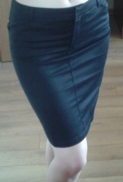 Tamsiai mėlynas Mango sijonas