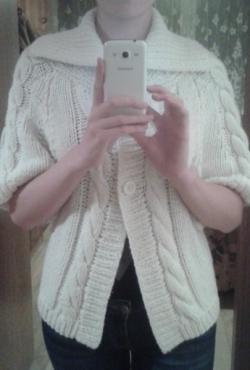 Baltas Šiltas megztinis