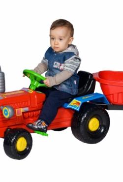 Traktorius+priekaba, su pedalais
